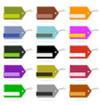 tag blank design set collection in various color vector image