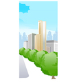 city with trees vector image vector image