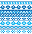 Aztec tribal seamless blue and navy pattern vector image