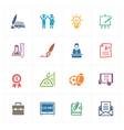 School and Education Icons Set 4 - Colored Series vector image vector image