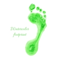 Watercolor children foot vector image