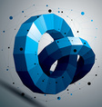 3D modern stylish abstract construction colorful vector image