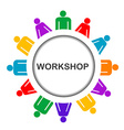 workshop icon vector image vector image