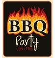 BBQ in the fire vector image