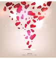 beautiful background with hearts valentines day vector image