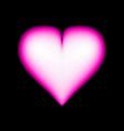 big 3d red heart vector image