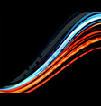 Colorful wave lines with light and shadow effects vector image