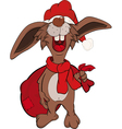 Rabbit with gifts vector image