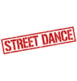 street dance stamp vector image