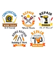Working tool and equipment isolated symbol set vector image