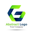 Letter G ecology sprout logo design Green icon vector image