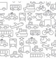 line icons seamless pattern transport vector image