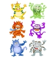 Set of funny cartoon monsters vector image vector image