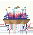 Flat design concept of nature pollution vector image