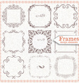 set ornate vintage frames vector image vector image