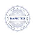 vector guilloche print vector image vector image