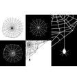 cobweb or spider web silhouettes set vector image