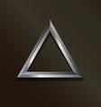 Metal silver triangle logo vector image