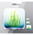 Grass app icons vector image