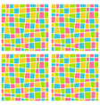 Bright mosaic seamless pattern vector image
