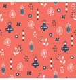 christmas pattern pink vector image