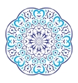 Circular floral ornament round ornament vector image