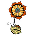 colored doodle flower vector image