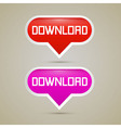Download Buttons - vector image