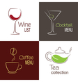 Drinks menu icons vector image