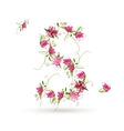 Floral letter S for your design vector image