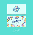 identity ice cream green vector image