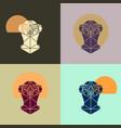 meerkat head triangular icon vector image