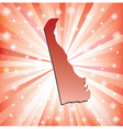 Red Delaware vector image