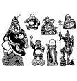seven lucky gods vector image