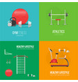 fitness and a healthy lifestyle concept banner vector image