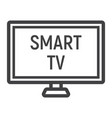 smart tv line icon household and appliance vector image