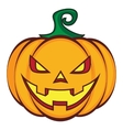 Halloween cartoon pumpkin jack lantern isolated on vector image