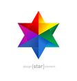 Origami rainbow Star vector image