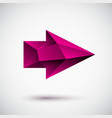 3d magenta right arrow vector image vector image