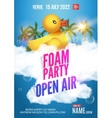 Foam Party summer Open Air Beach party foam party vector image