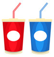 colorful soda cola milkshake juice fast food icon vector image
