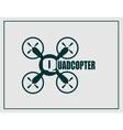 Drone quadrocopter icon Quadcopter text vector image