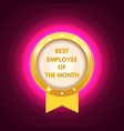 employee of the month label vector image