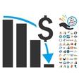 Financial Crisis Icon With 2017 Year Bonus Symbols vector image