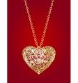 golden heart vector image