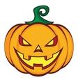 Halloween cartoon pumpkin jack lantern isolated on vector image
