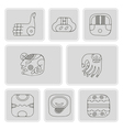 icons with American Indians relics dingbats vector image