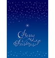 X-Mas Lettering Card with Star vector image