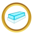 Glass showcase icon vector image