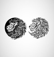 Lion Head Emblem vector image